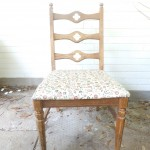 Great Vintage Accent Quatrefoil Chair $35