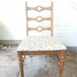 Great Vintage Accent Quatrefoil Chair $35
