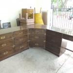 Vintage Corner Campaign Desk $285