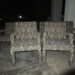 Vintage Milo Baughman for Thayer Coggin style chairs, set of SIX - $125 a pair, $300 for the set