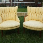 Vintage Pair of Upholstered Chairs $435 Pair