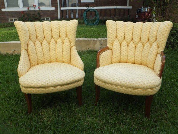 SHARE: ... - Pair Of Vintage Upholstered Chairs.$435
